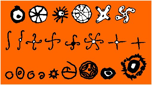 Symbols Half Circle Circle Becomes The Symbol